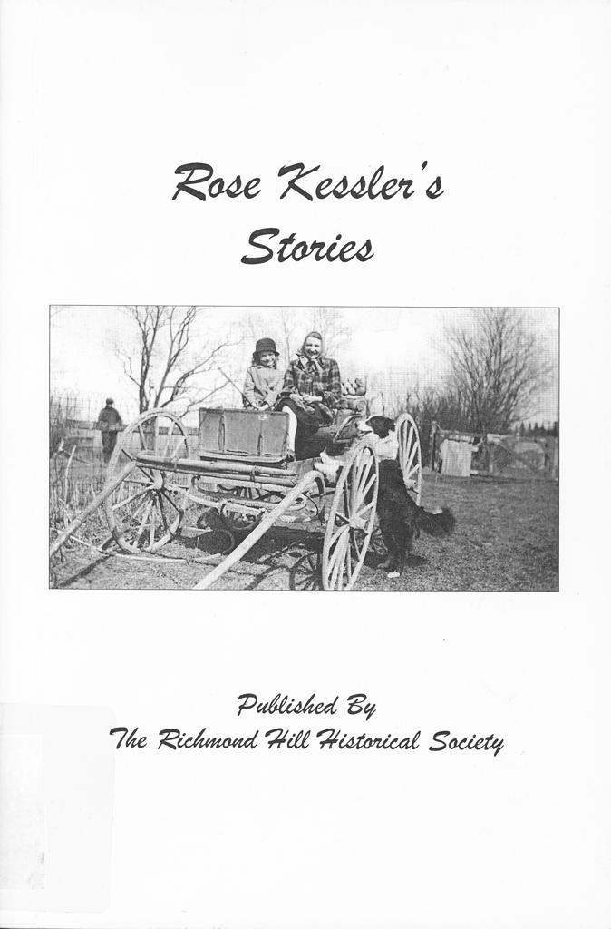 Book cover of Rose Kessler's Stories