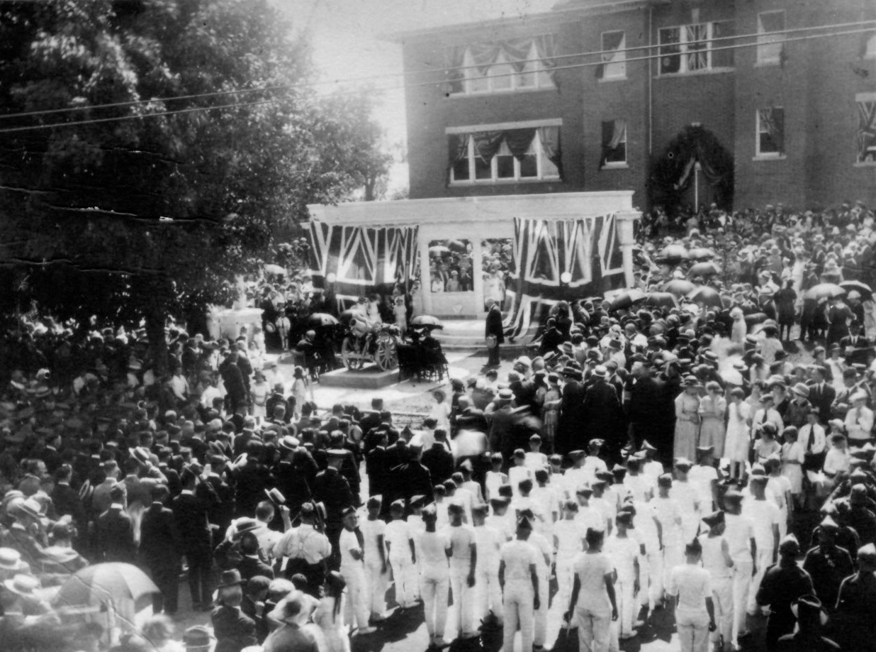 Unveiling of the Richmond Hill Cenotaph on August 5, 1923